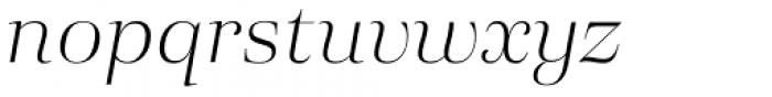 Eckhart Display Light Italic Font LOWERCASE