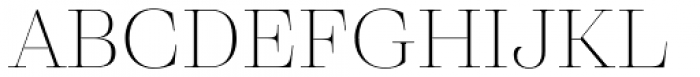 Eckhart Display Thin Font UPPERCASE