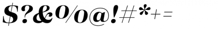Eckhart Headline Bold Italic Font OTHER CHARS