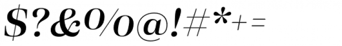 Eckhart Headline Demi Bold Italic Font OTHER CHARS