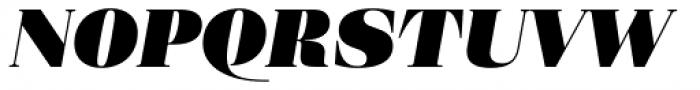 Eckhart Headline Extra Black Italic Font UPPERCASE