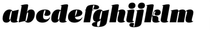 Eckhart Headline Extra Black Italic Font LOWERCASE
