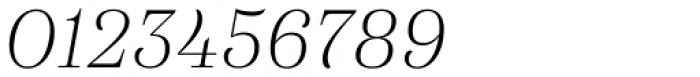 Eckhart Headline Light Italic Font OTHER CHARS