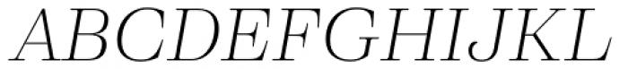 Eckhart Headline Light Italic Font UPPERCASE