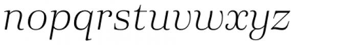 Eckhart Headline Light Italic Font LOWERCASE