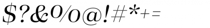 Eckhart Headline Regular Italic Font OTHER CHARS