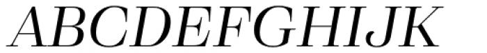 Eckhart Headline Regular Italic Font UPPERCASE