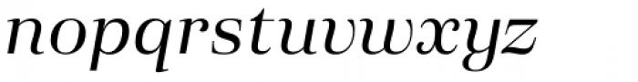 Eckhart Headline Regular Italic Font LOWERCASE