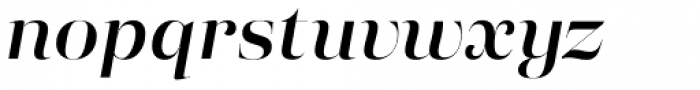 Eckhart Poster Demi Bold Italic Font LOWERCASE