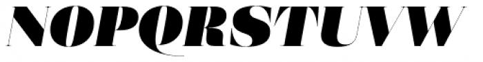 Eckhart Poster Extra Black Italic Font UPPERCASE