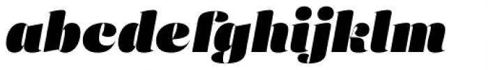 Eckhart Poster Extra Black Italic Font LOWERCASE