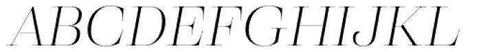 Eckhart Poster Light Italic Font UPPERCASE