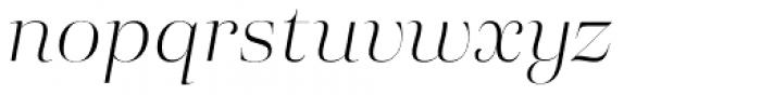 Eckhart Poster Light Italic Font LOWERCASE
