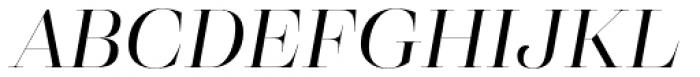 Eckhart Poster Regular Italic Font UPPERCASE