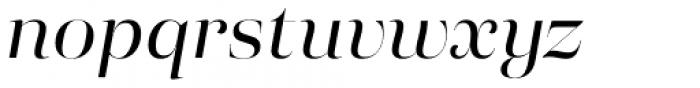Eckhart Poster Regular Italic Font LOWERCASE