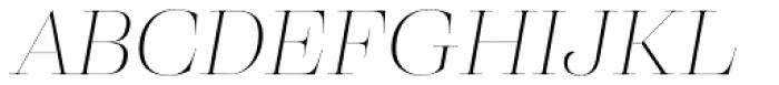 Eckhart Poster Thin Italic Font UPPERCASE