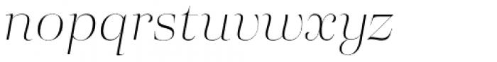 Eckhart Poster Thin Italic Font LOWERCASE