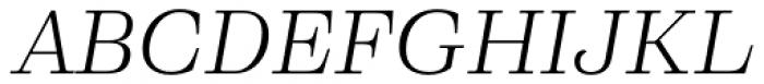 Eckhart Text Book Italic Font UPPERCASE