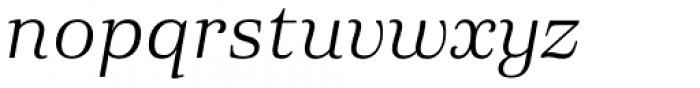 Eckhart Text Book Italic Font LOWERCASE