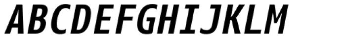Eco Coding WGL4 Bold Italic Font UPPERCASE