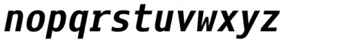 Eco Coding WGL4 Bold Italic Font LOWERCASE