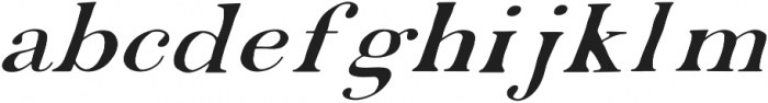 EDENTON NO 2 otf (400) Font LOWERCASE