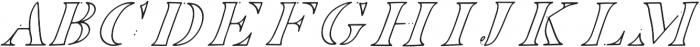 EDENTON NO 6 otf (400) Font UPPERCASE