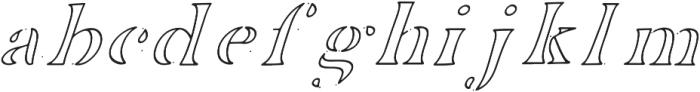 EDENTON NO 6 otf (400) Font LOWERCASE