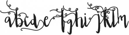 Edeline Swirl otf (400) Font LOWERCASE