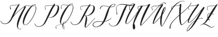 Edelweis Script Regular otf (400) Font UPPERCASE