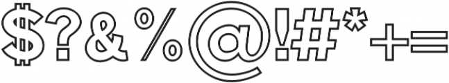 Edina Outline otf (400) Font OTHER CHARS