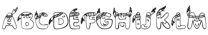 EDB Indians Font UPPERCASE