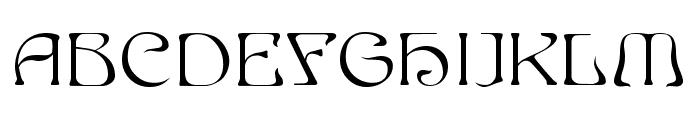 Edda Filled Font UPPERCASE