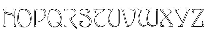 Edda Narrow Font UPPERCASE