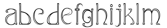 Edda Narrow Font LOWERCASE