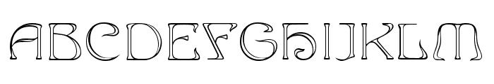 Edda Outline Font UPPERCASE