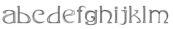 Edda Outline Font LOWERCASE