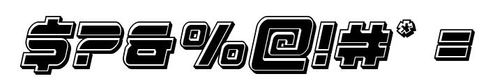 Edge Racer Bevel Italic Font OTHER CHARS
