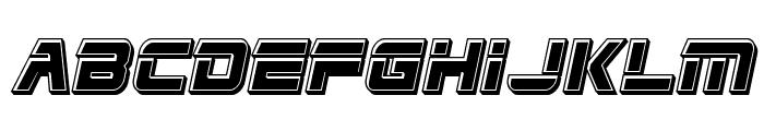 Edge Racer Bevel Italic Font UPPERCASE