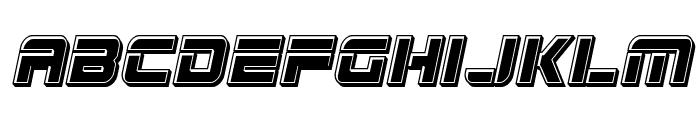 Edge Racer Bevel Italic Font LOWERCASE