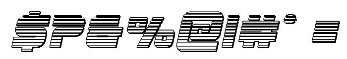Edge Racer Chrome Italic Font OTHER CHARS