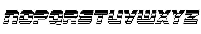 Edge Racer Chrome Italic Font UPPERCASE