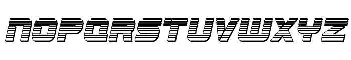 Edge Racer Chrome Italic Font LOWERCASE