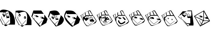 EdgedFaces Font LOWERCASE