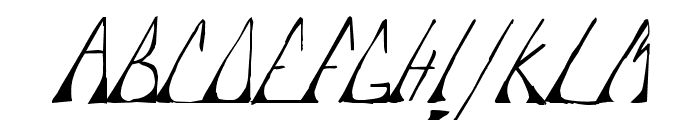 Edje Slant Font UPPERCASE