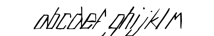 Edje Slant Font LOWERCASE