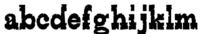 Edmunds Distressed Font LOWERCASE