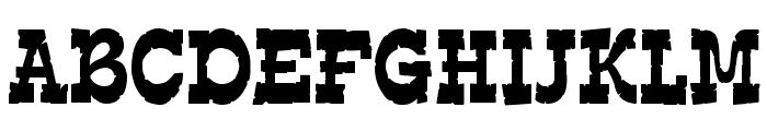 EdmundsDistressed-Regular Font UPPERCASE