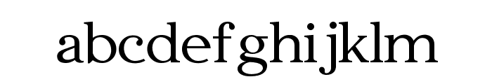 Edmundsbury Serif Regular Font LOWERCASE