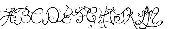 Edward's Wedding Font UPPERCASE